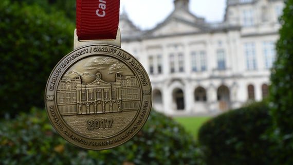 Half Marathon medal with Main Building