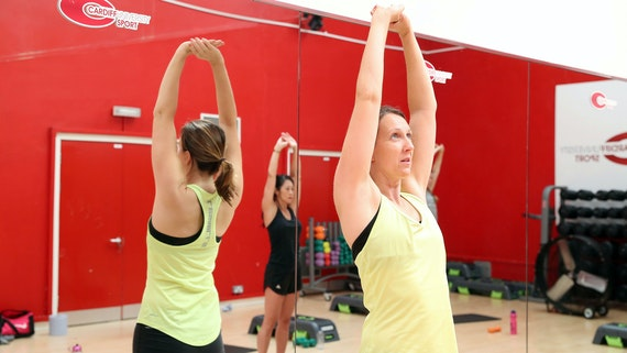 fitness class in studio