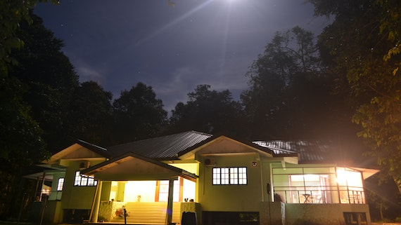 Danau Girang Field Centre at night