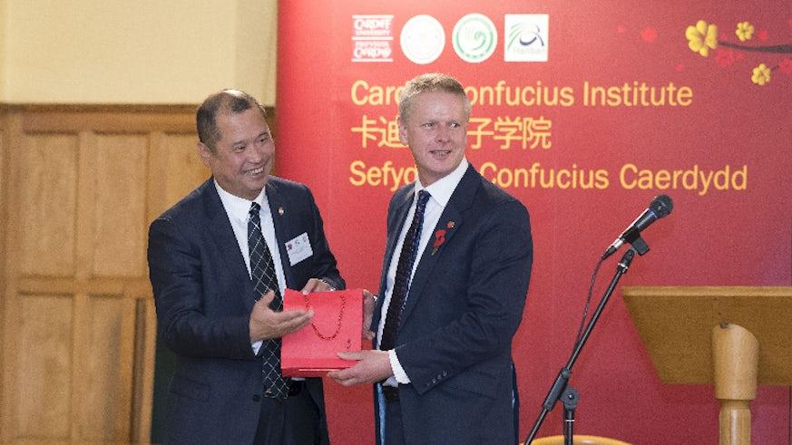 Professor Lin Dongwei and Professor Colin Riordan