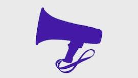 Purple Megaphone Icon