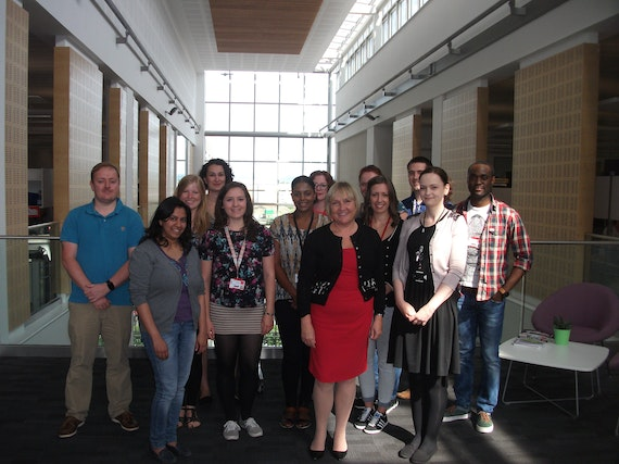 A photograph of the Alzheimer's disease research team