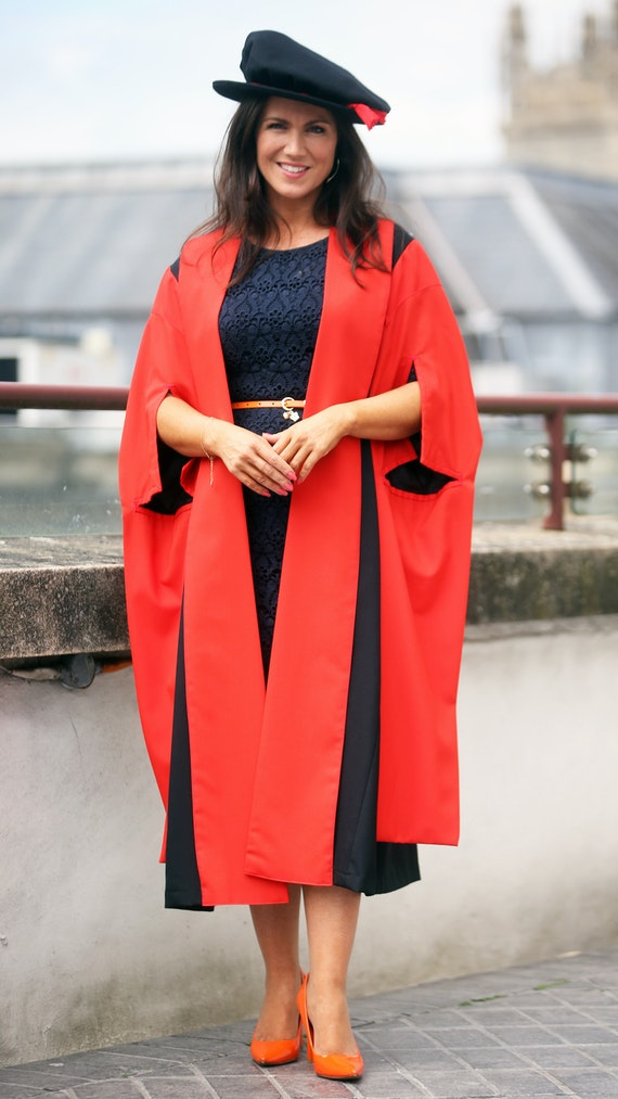 Susanna Reid in graduation gown