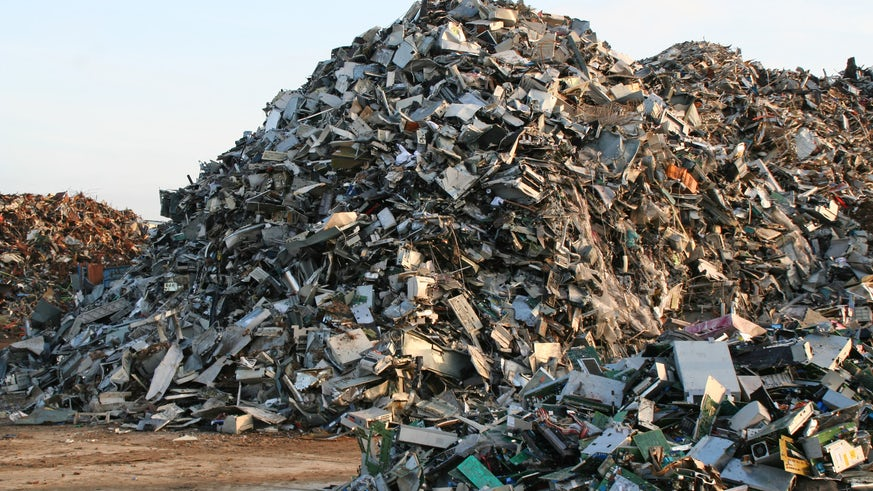 Image of scrap metal from appliances