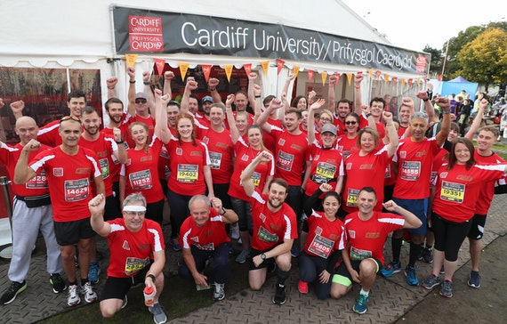 TeamCardiff runners before the 2018 race