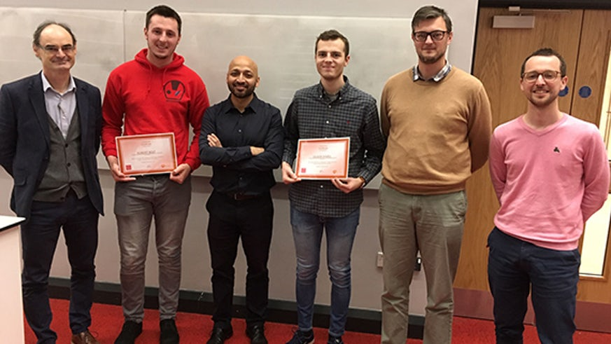 Students presented with their GlaxoSmithKline awards