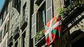 Flag on old building