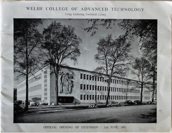 Black and White image of the redwood building