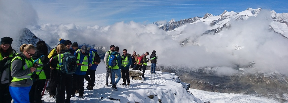 Environmental Geography students in the Swiss Alps
