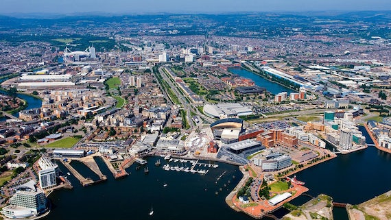 Cardiff from the air