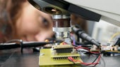 Researcher working in the CMP Labs