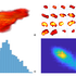 Image Analysis: Three-dimensional rendering of oesophageal cancer imaged with Positron Emission Tomography (a) slice by slice image representation of the gross tumour volume (b) histogram distribution of the voxel data (c) and texture analysis with grey level co-occurrence matrix calculation (d).