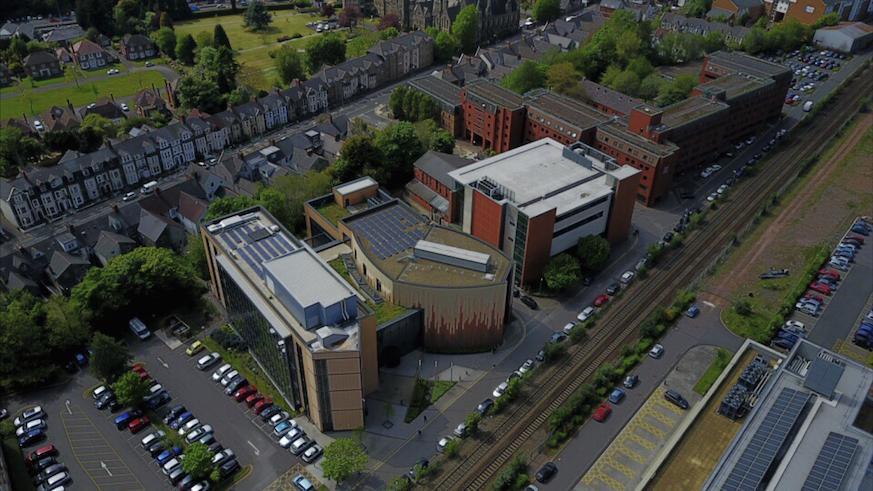 Aerial Cardiff Business School