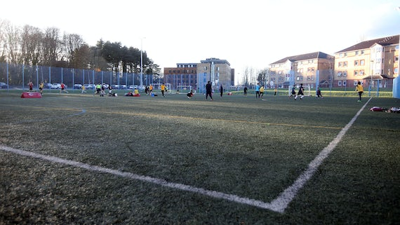 Artificial pitch at the Sports Training Village