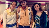 Alice Moon, Zak Tamlyn and Claire Tuttle dressed up ready for the Jailbreak challenge