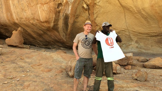 Rock art in Kline Spitzkoppe where the Phoenix Heritage project is supporting sustainable heritage in Namibia.