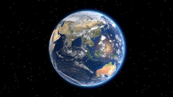 Stock image of the Earth from space