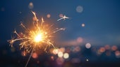 Stock image of a sparkler