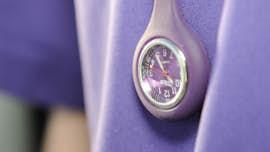 Student nurse's watch badge