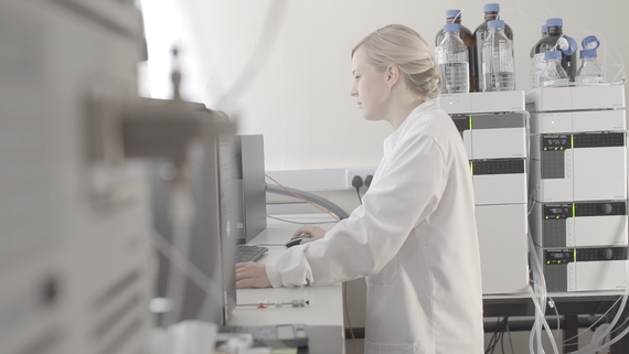 A researcher in the Systems Immunity Research Institute