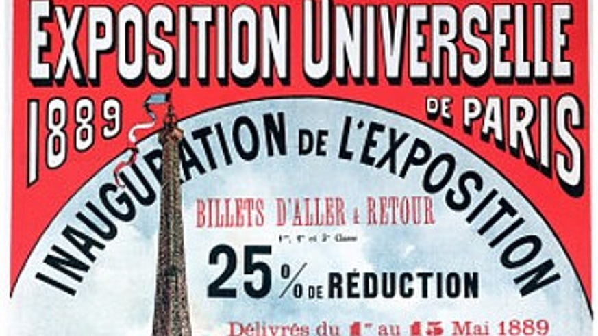 Advertising for the 1889 Paris World Fair
