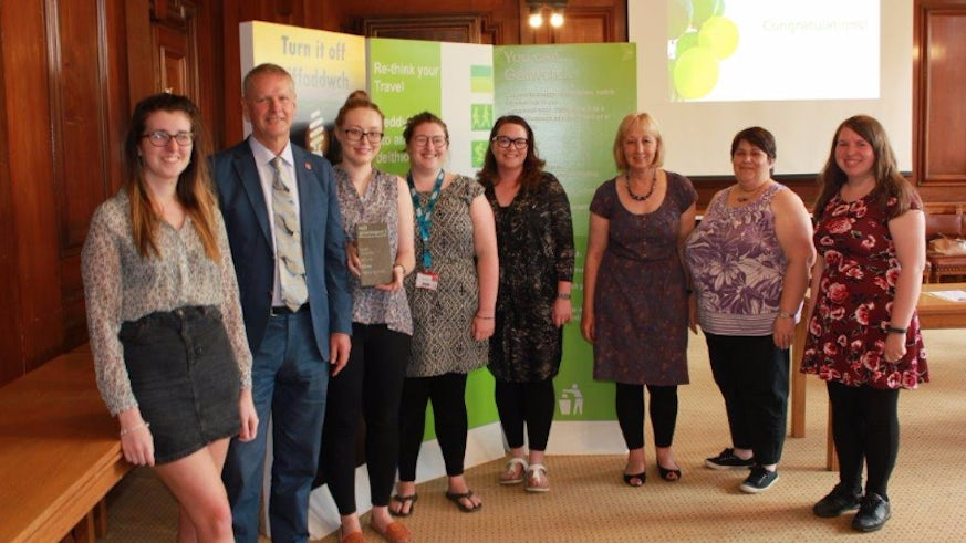 Image of Professional Services staff receiving their award from the Vice-Chancellor