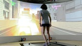 Girl on MOTEK treadmill