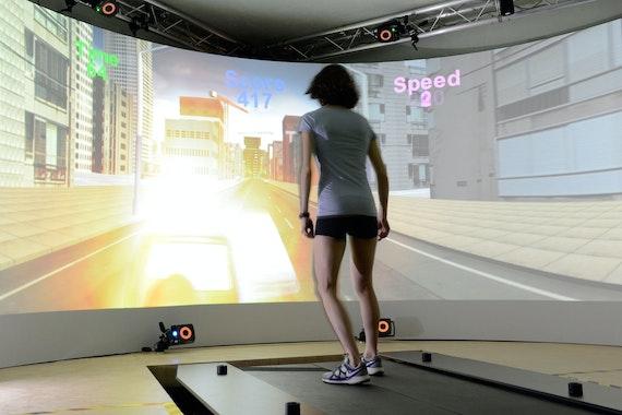 Girl on MOTEK treadmill