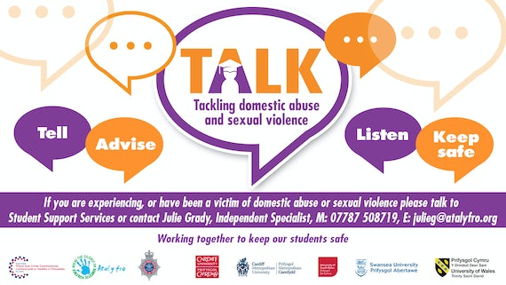 Contact details for the TALK campaign to tackle domestic abuse and sexual violence