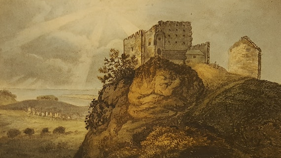 Castell Penline, yn Edward Donovan, Descriptive excursions through South Wales and Monmouthshire (1805)