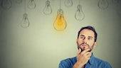 Light bulb signifying idea