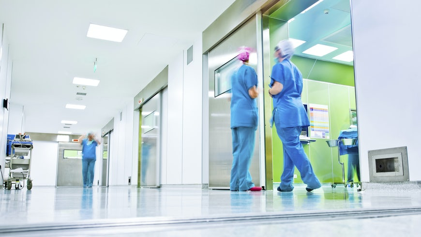 Medical staff in corridor