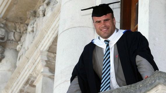 Jamie Roberts graduating