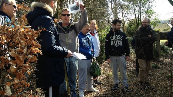 Members of Cardiff and Merthyr's communities geocaching