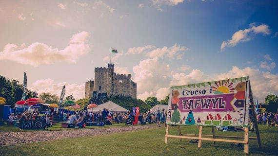 Cardiff Castle during the Tafwyl festival.