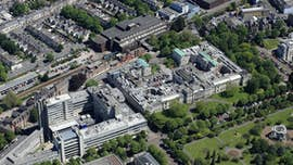 Aerial view of uni