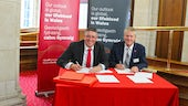 Cardiff University and Santander contract signing