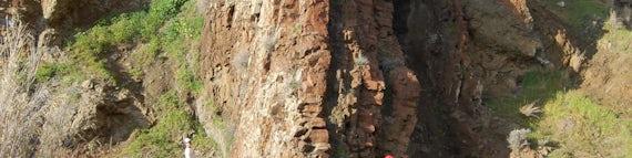 Geology students on fieldwork in Cyprus.