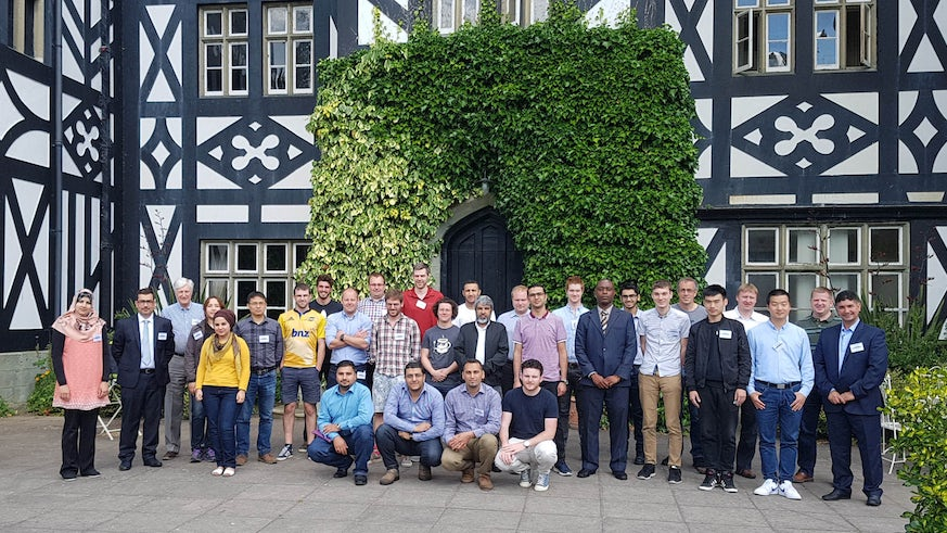 Students and staff attending the annual conference at Gregynog.