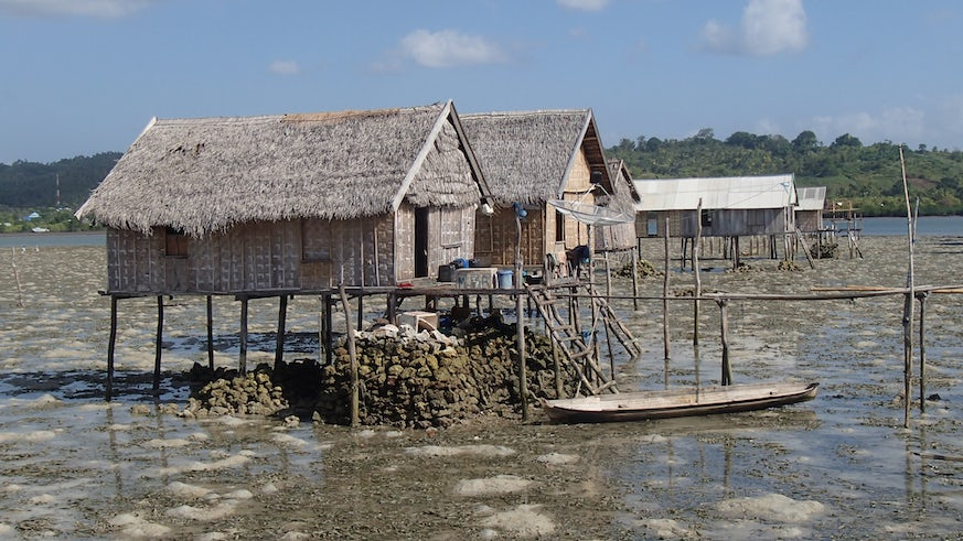 coastal house with seagrass