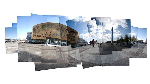 Collage image of Cardiff Bay