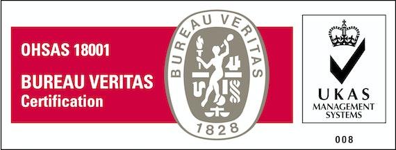 OHSAS 18001 and UKAS logos