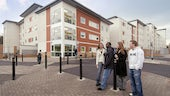 Students outside Talybont Court