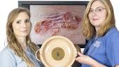 Philippa Stiff & Meg Pearson with winning image & award