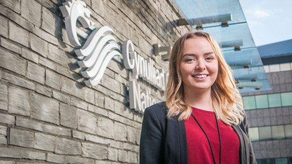 Student on placement at Welsh Government