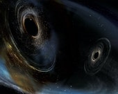Image of two black holes