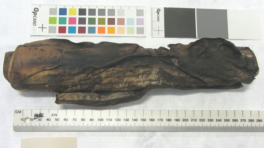 Burnt scroll