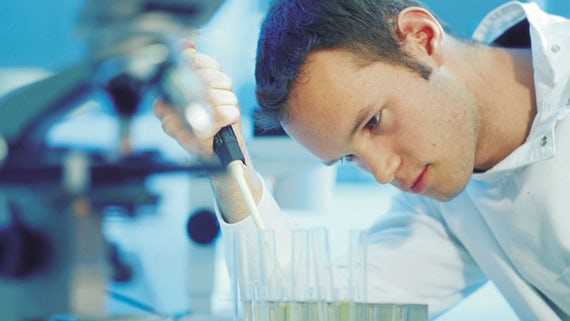 male scientist in laboratory
