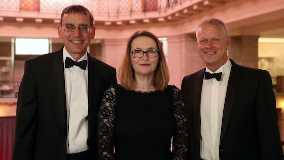 John Pullinger, Kirsty Williams, Colin Riordan