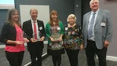 The prize winners with Dr Henson and his wife, Lucy